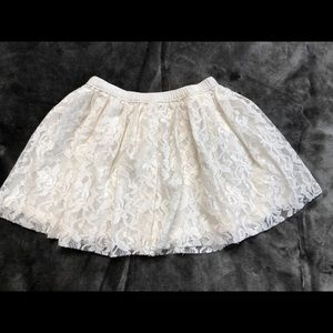 Holiday Time White  Lace Skirt 3T